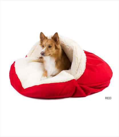 Cozy Cave Dog Bed Red X-Large