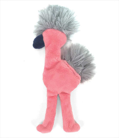 Stuffless Flamingo Dog Toy Mingo