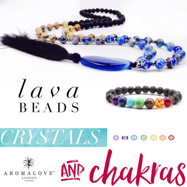 Spotlight: Lava beads, crystals and chakras!