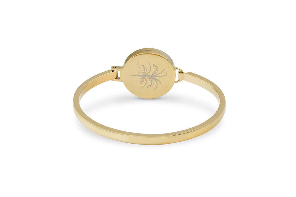 Gold Tree of Life Diffuser Bangle / Bracelet, pouch and 9 reusable diffuser pads included