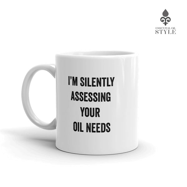 "Mug - ""Silently Assessing"" by Essential Oil Style"