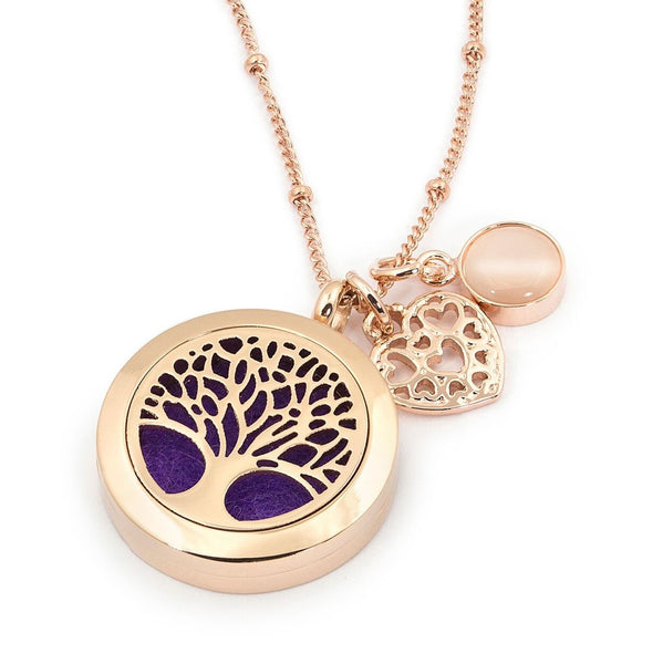 Rose Gold Tree Of Life Aromatherapy / Essential Oils
