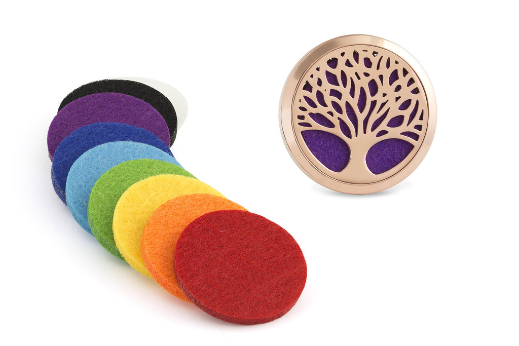 Tree of Life Car Diffuser set - 9 washable pads