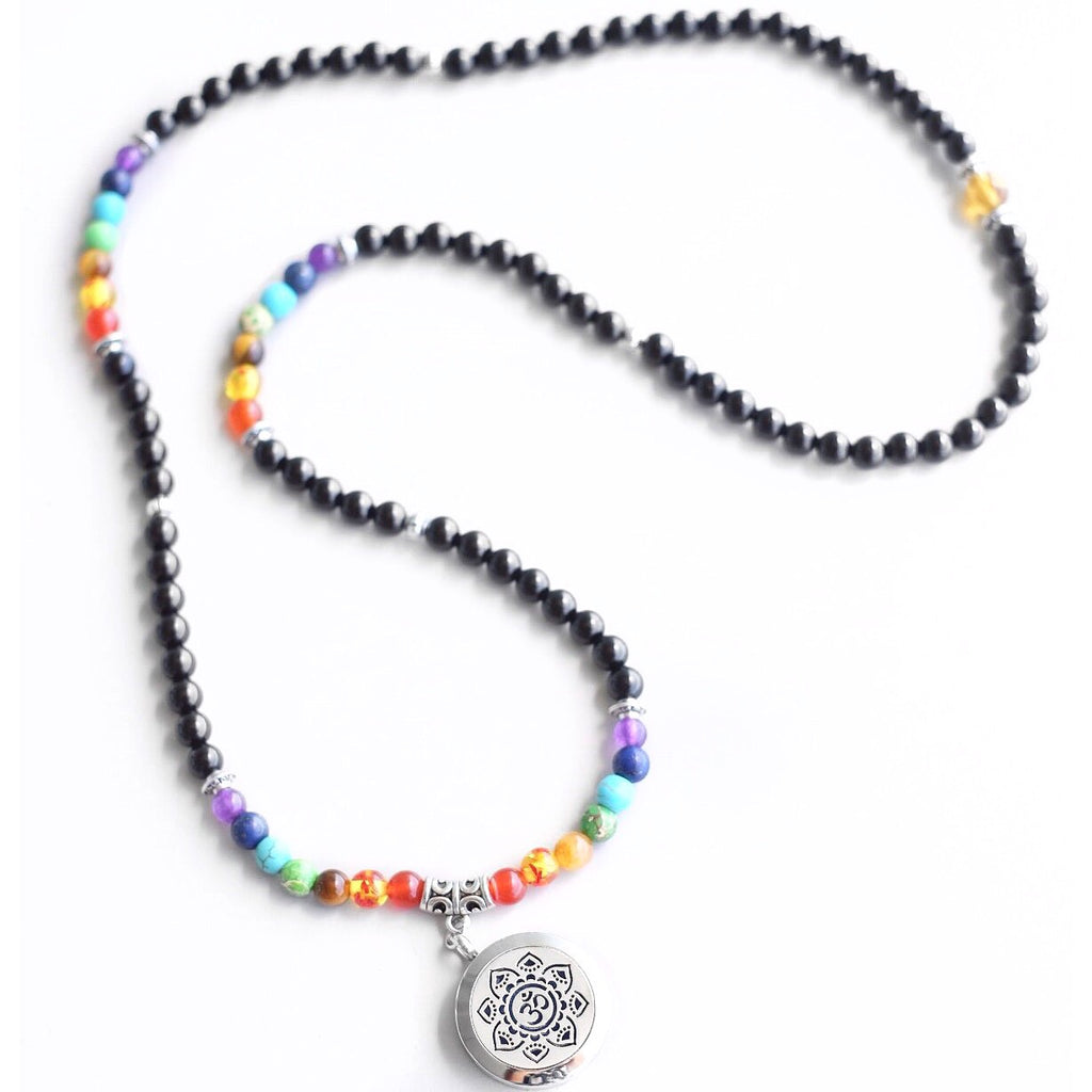 Chakra Mala with 'Aum' diffuser locket