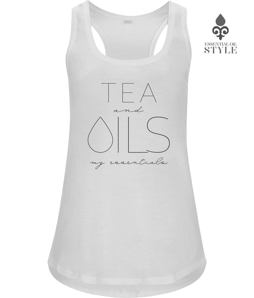 "Women's Racerback Vest - ""TEA and my essentials"" by Essential Oil Style"