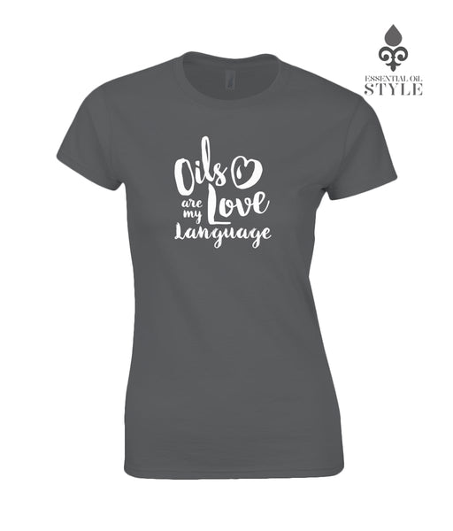 Gildan SoftStyle® Ladies Fitted Ringspun T-Shirt - Love Language by Essential Oil Style
