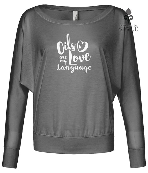 Bella Flowy Long Sleeve T-Shirt - Love Language by Essential Oil Style