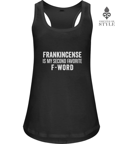 Women's Bamboo Racerback Vest - F-Word by Essential Oil Style