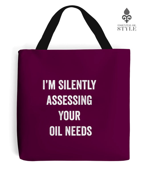 "Tote Bag - ""Silently Assessing Your Oil Needs"" by Essential Oil Style"
