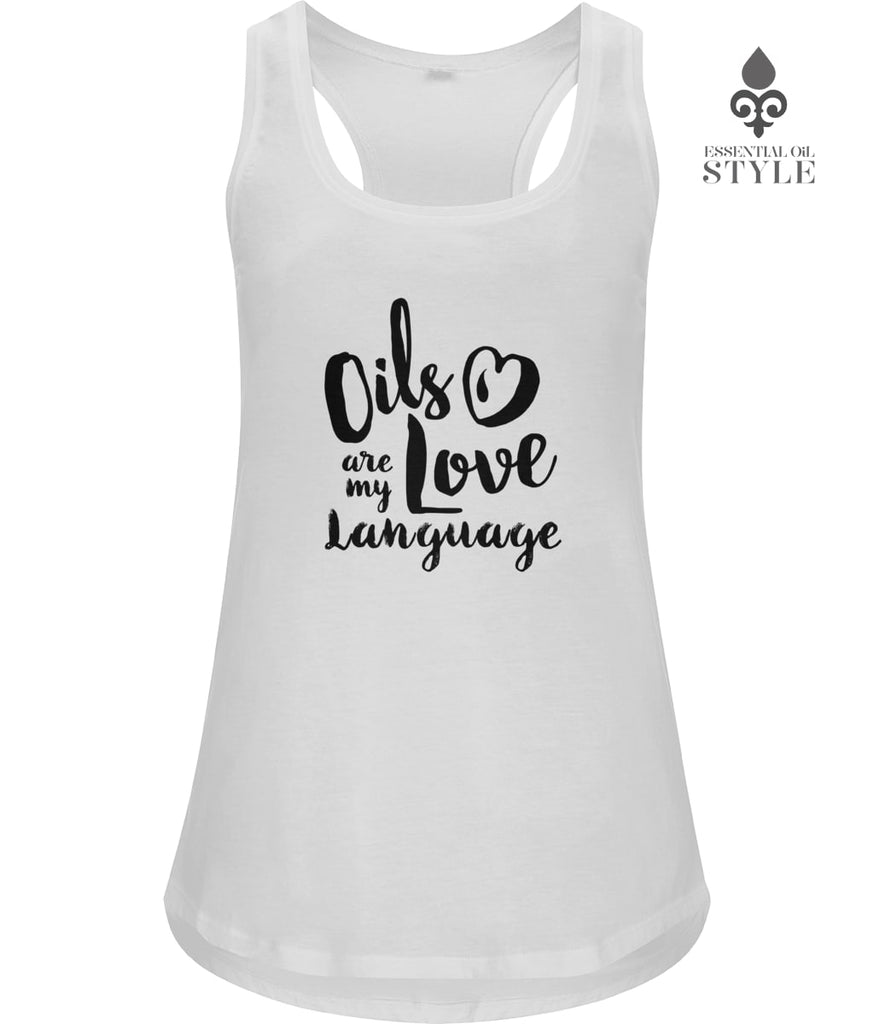 Women's Racerback Vest - Love Language by Essential Oil Style
