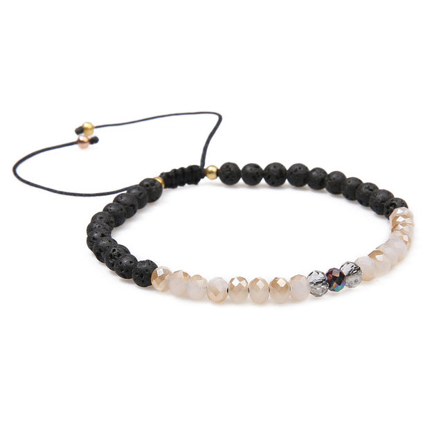 (83) Glass and Lava Bead diffuser bracelet
