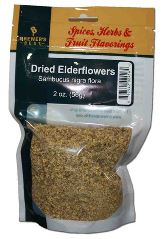 Sambucus nigra flora, Dried Elderflowers for Wine 2 oz Bag