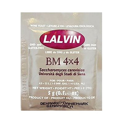 Lalvin Dry Wine Yeast: BM 4x4 5 gram packet