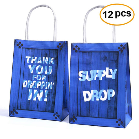 Fortnite Party Supplies Supply Drop Goody Bags for Birthday Party - 12 pack