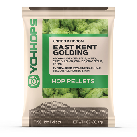 East Kent Golding Hops, Imported Pellet Hops 1 oz Bag