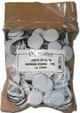 White Oxygen-Barrier Crown Caps, Bag of 144