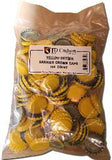 Yellow Oxygen-Barrier Crown Caps, Bag of 144