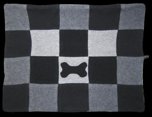 Checkered Bone Blanket - Fifi & Romeo