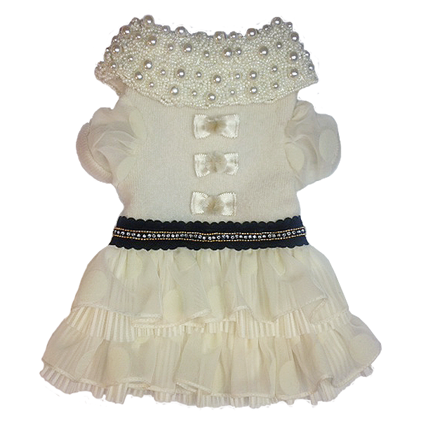 Pearl Bow Dress - Fifi & Romeo