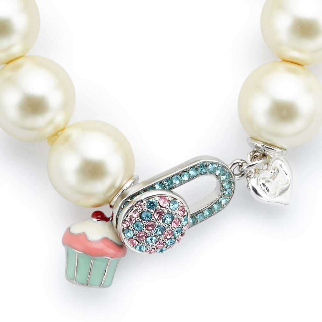 Long Pearl Cupcake Necklace - Fifi & Romeo