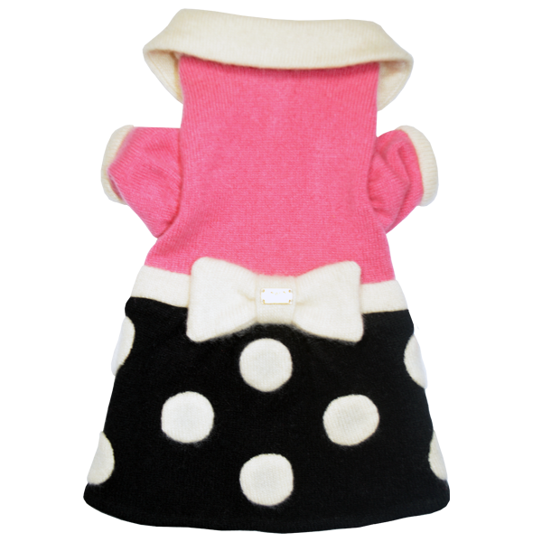 Polka Dot Bow Sweater Dress - Fifi & Romeo