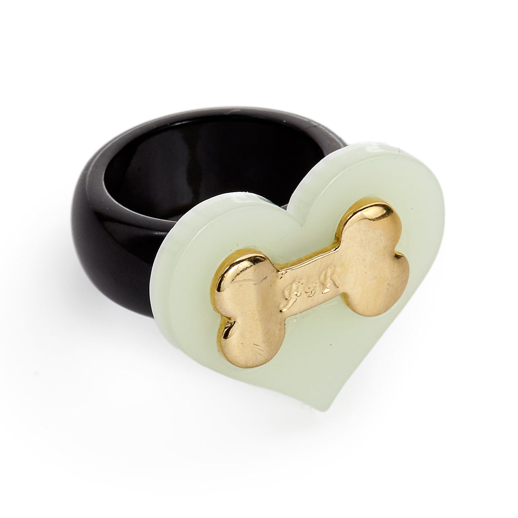 Heart & Bone Ring - Fifi & Romeo