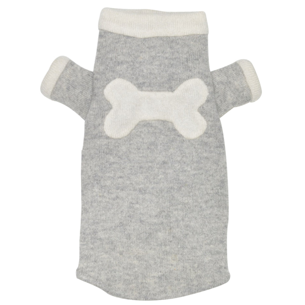 Bone Sweater - Grey & Creme - Fifi & Romeo