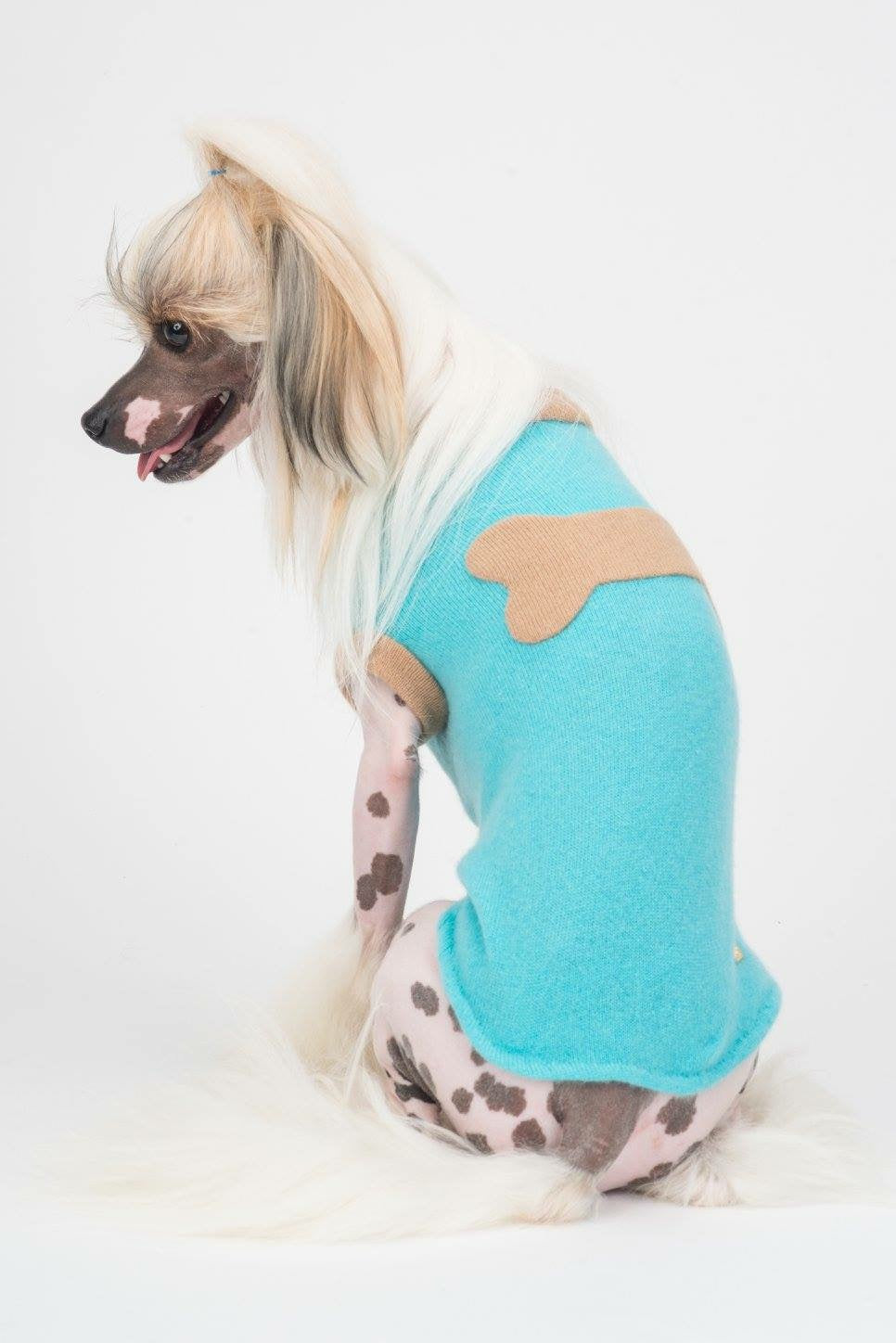 Sleeveless Bone Sweater - Fifi & Romeo