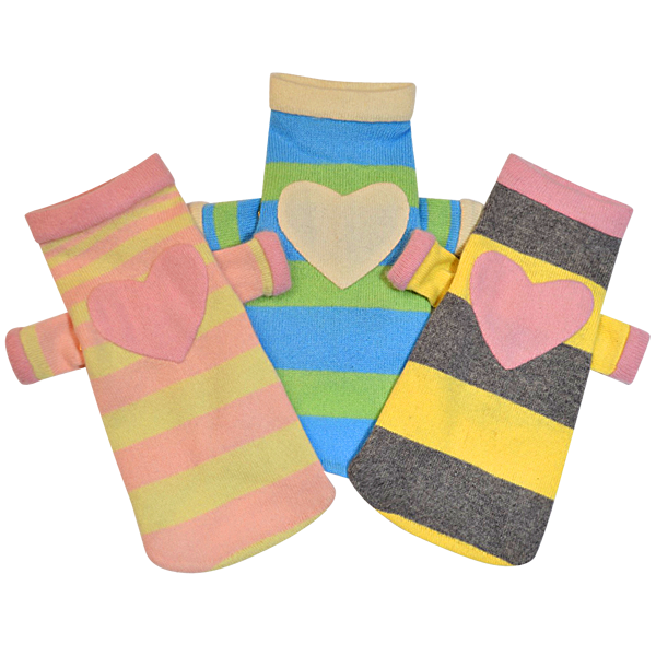 Blue & Green Heart Sweater - Fifi & Romeo