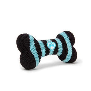 Striped Bone Toy - Pink & Black