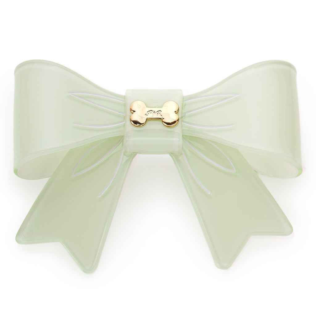 Large Bow & Bone Barrette - Pink