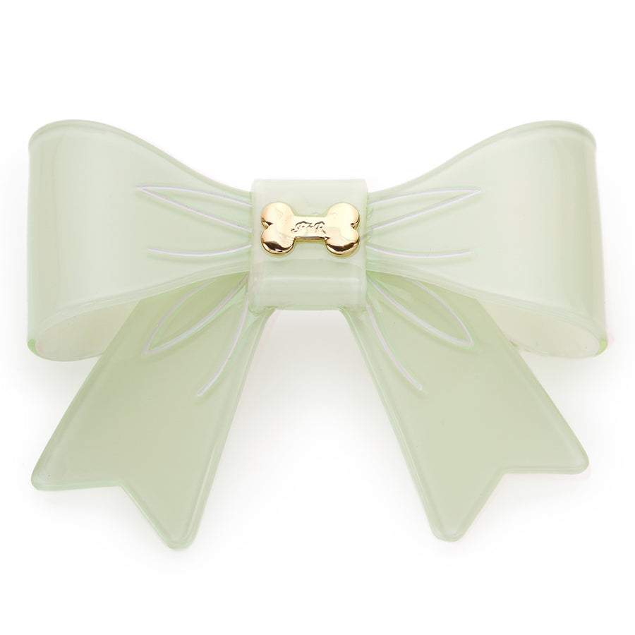 Large Bow & Bone Barrette - Fifi & Romeo