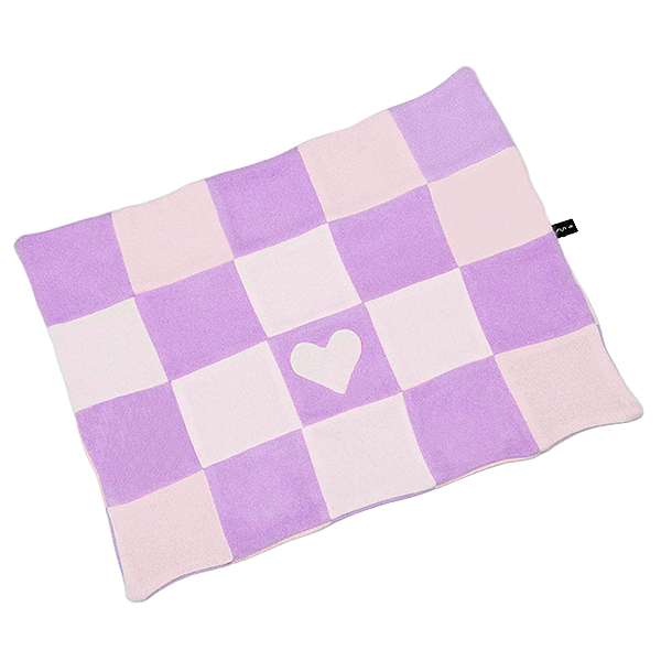 Checkered Heart Blanket - Pink Combination