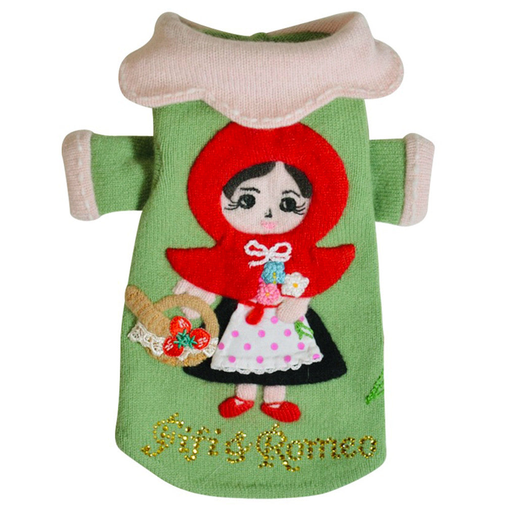 Fifi & Romeo Little Red Riding Hood Pet Sweater