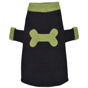 Bone Sweater - Black & Green