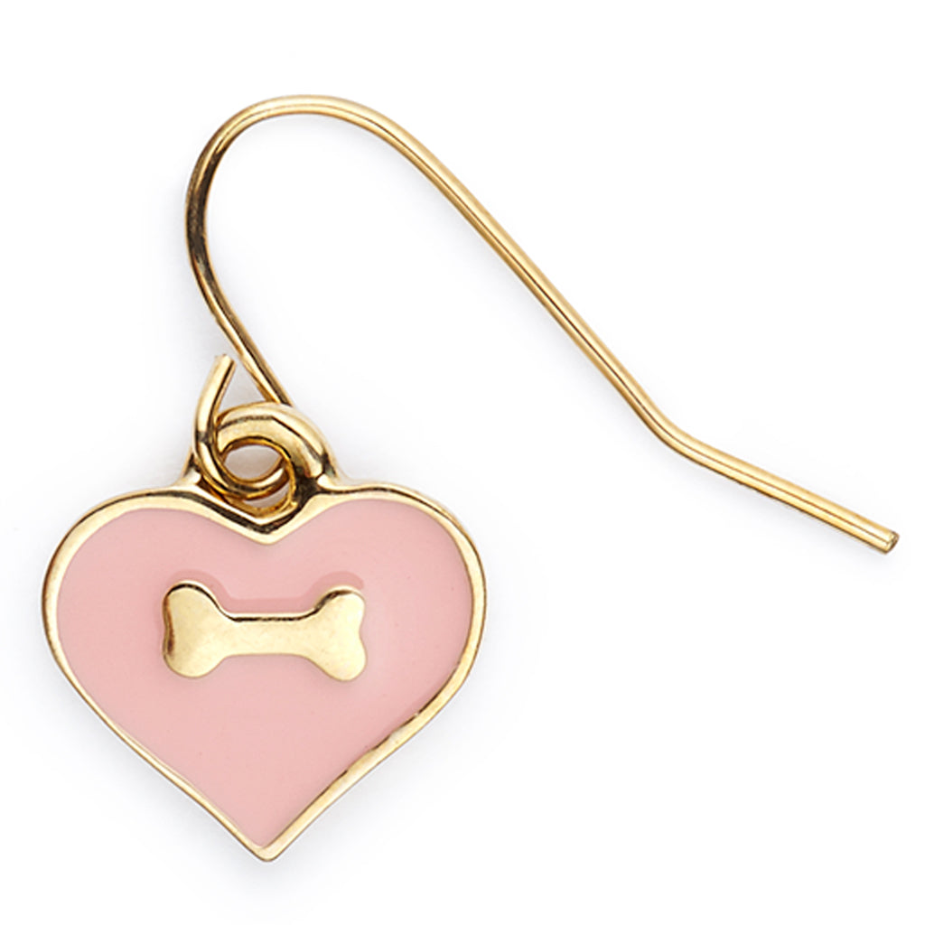 Heart & Bone Hook Earrings - Fifi & Romeo