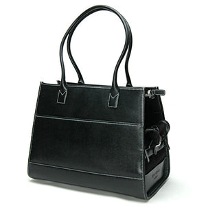 Black Leather Carrier