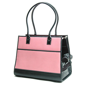 Pink & Black Leather Carrier