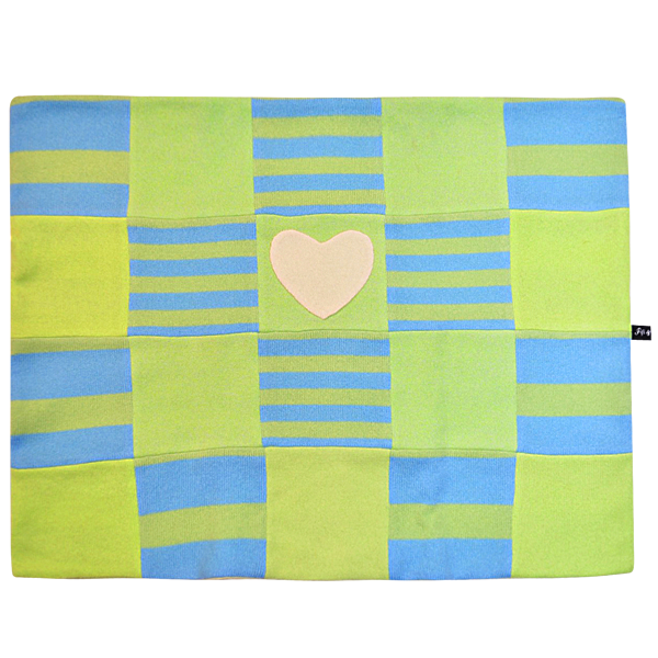 Blue & Green Heart Blanket - Fifi & Romeo