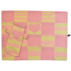 Yellow & Pink Heart Blanket