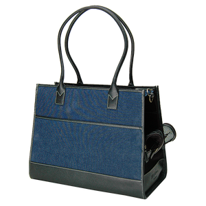 Blue Denim & Black Leather Carrier