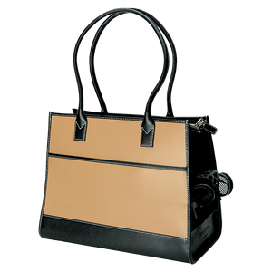 Camel & Black Leather Carrier