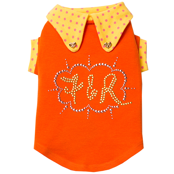 Orange Polka Dot Top - Fifi & Romeo