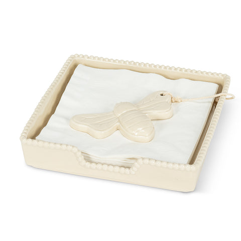 Ivory Bee Napkin Holders