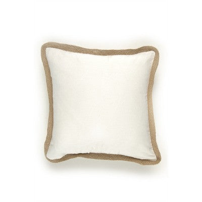 Ivory Jute Trimmed Cushion