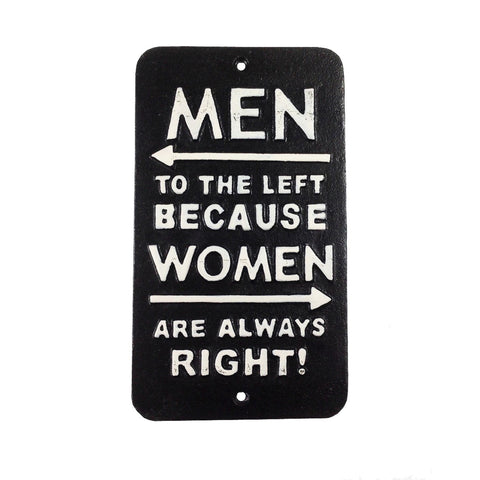 Men Left Sign