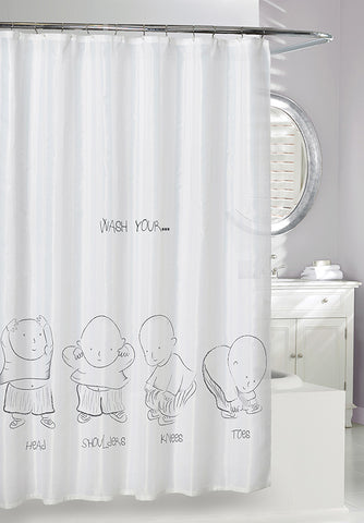 Head Shoulders Knees and Toes Shower Curtain