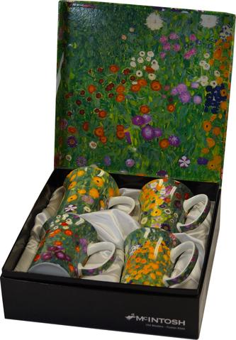 McIntosh Set of 4 Mugs - Klimt, Flower Garden