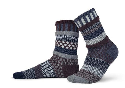 Adult Wool Socks, Mahogany