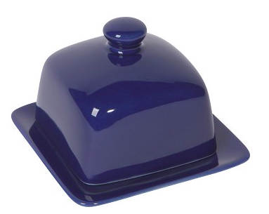 Square Butter Dish, Navy